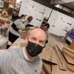 Ryan and Malnar team takes a selfie while helping at silver key